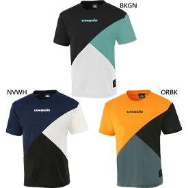 メンズ レディース HE ヘリテージ カラーブロックTシャツ 半袖Tシャツ トップス トレーニングウェア 吸汗速乾 UVカット UPF15 アンブロ UMBRO ULURJA59