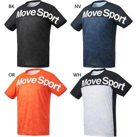 メンズ グラフィック 半袖Tシャツ トップス フィットネス トレーニングウェア ストレッチ 吸汗速乾 デサント DESCENTE DMMRJA66