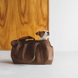 【犬 キャリー】スクエア トート キャンバス ソリッド L サイズキャリーバッグ おしゃれ 軽い 中型犬 洗える 人気 ドッグ キャリー かばん 鞄 シンプル バッグ コッカー 多頭 ボストン パグ 旅行 電車 公共機関 防災 災害