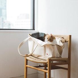 【猫 キャリー】スクエア トート キャンバス ツートン Mサイズ猫 ねこ ネコ 猫用 ペット ペット用 動物 キャリーバッグ バッグ かばん 鞄 トート トートバッグ 帆布 キャンバス 洗える 洗濯 おしゃれ シンプル 日本製 病院 通院