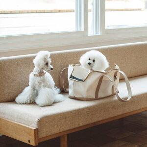 【犬 キャリーバッグ】スクエア トート ハンプ ツートン M サイズキャリーバッグ キャリーバック バッグ かばん 鞄 小型犬用 犬用品 ペット用品 動物 洗える 洗濯 日本 シン