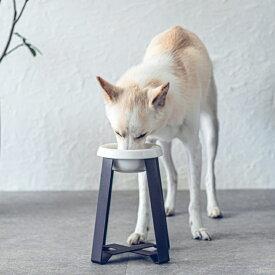 pecolo Food Stand L(hightall) 陶器深型 フードボウルスタンド 犬 フードボウル