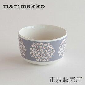 マリメッコ ボウル 9cm(marimekko)プケッティ グレー×レッド