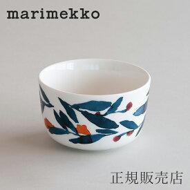マリメッコ ボウル 9cm(marimekko)ヒュフマ ブルー×レッド