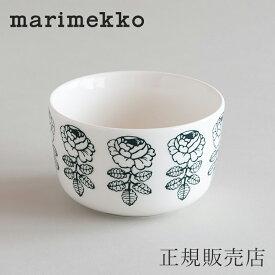 マリメッコ ボウル 9cm(marimekko)ヴィヒキルース ホワイト×グリーン