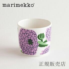 マリメッコ ラテマグ(marimekko)プリマヴェーラ ホワイト×バイオレッド×グリーン