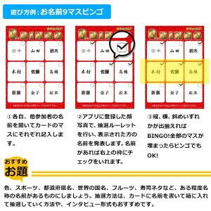 9マスビンゴカード10枚セット【無料抽選アプリ付き】