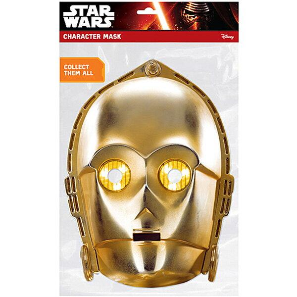 衣装 コスプレ 【スターウォーズペーパーマスク C-3PO】 二次会 忘年会 ハロウィン 仮装 イベント コスプレ 宴会 フェス 衣装