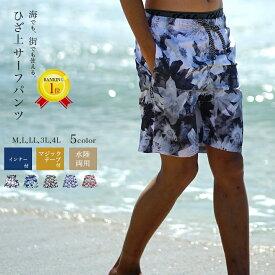 メンズ 水着 大きいサイズ 3L 4L 5L 海パン サーフパンツ 男性用 海水パンツ メッシュ インナー付き メンズ水着 ロング ns-2517-10finalm