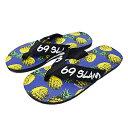 69SLAM ロックスラム メンズ ビーチサンダル PINAPPLES NAVY [世界中で流行の新ブランド デザインもいっぱい]
