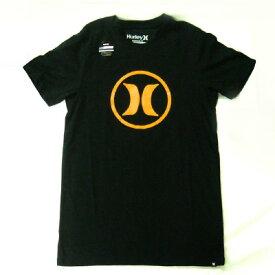 ■最大2000円OFFクーポン配布中■ 【訳あり 一部汚れあり 新品未使用 特価】 Hurley ハーレー メンズ ロゴ Tシャツ サークルアイコン [S size] [ブラック×オレンジ] 半袖 トップス CIRCLE ICON [NIKE DRI-FIT ナイキ ドライフィット]
