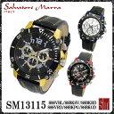 【送料無料】サルバトーレマーラ メンズ腕時計 SM13115 SSSVBL SSBKSV SSBKRD SSSVRD SSBKPG SSBKGD 全6色 クロノグラ…