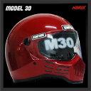 【新色】【SIMPSON】シンプソンヘルメット M30 レッド モデル30Model30復刻版 国内仕様 SG規格フルフェイス 【送料無料】【あす楽対応】
