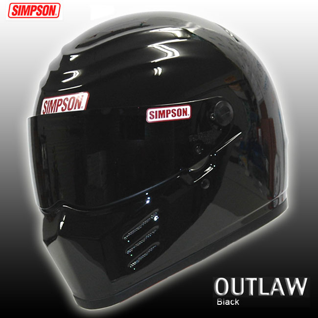 【送料無料】【SIMPSON】シンプソンヘルメット アウトロー OUTLAW ブラック 国内仕様 SG規格 フルフェイス オートバイ用ヘルメット【あす楽対応】