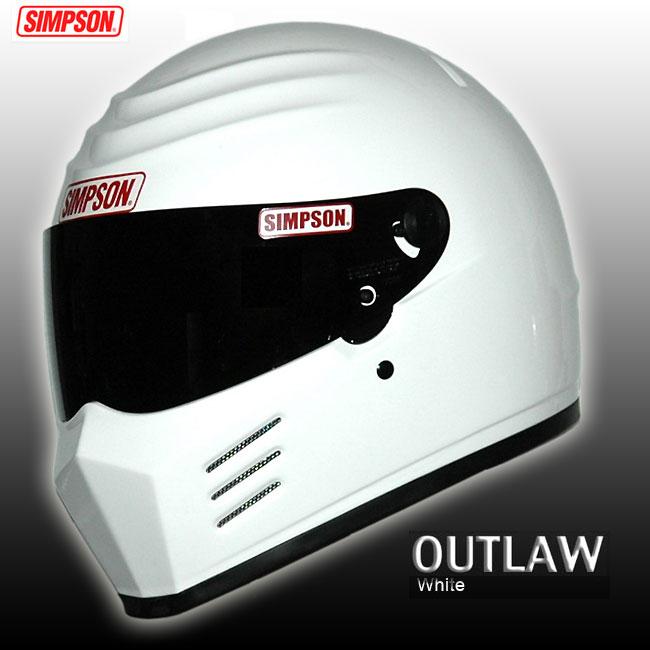 【送料無料】【SIMPSON】シンプソンヘルメット アウトロー OUTLAW ホワイト 国内仕様 SG規格 フルフェイス オートバイ用ヘルメット【あす楽対応】