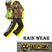 【RIDEZ】RIDEZTECRAINWEARCAMO/BKライズレインウェア雨具M〜3L【あす楽対応】
