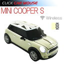 【CLICK CAR MOUSE】ミニクーパーS クリックカーマウス MINI COOPER S ペッパーホワイト ブラックジャック 日本限定 光学式ワイヤレス...