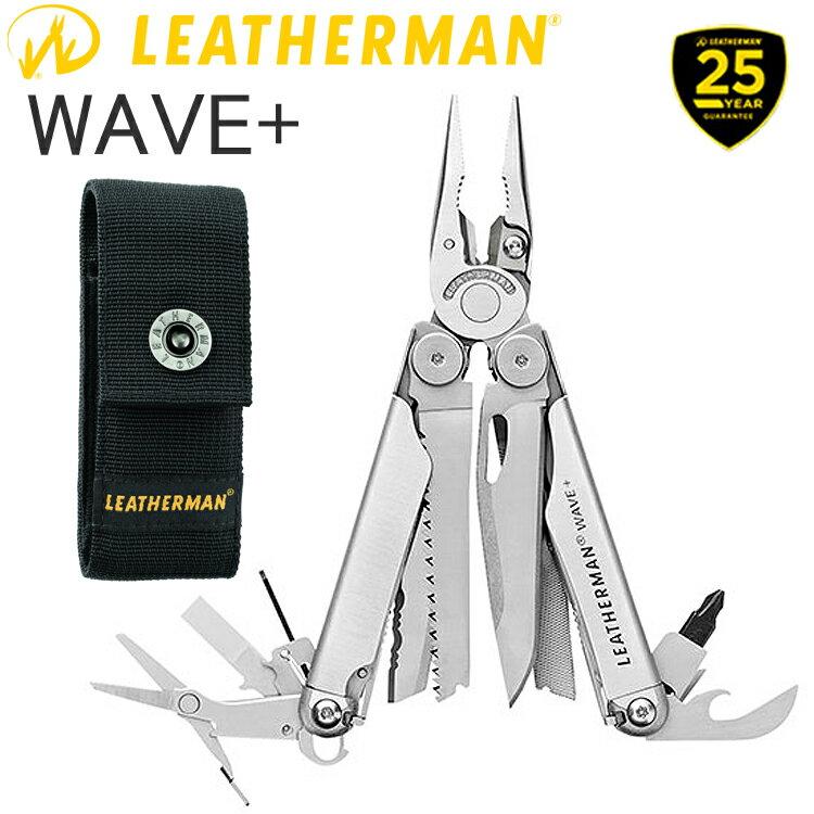25年保証 LEATHERMAN レザーマン WAVE PLUS ウェーブ プラス 17機能マルチツール 正規輸入代理店品 条件付き送料無料 あす楽対応