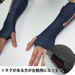 ケメコリストゲーターデザインプリントグローブインナー手首用防寒インナー