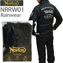 NORTON ノートン レインウェア NRRW01 BLACK バイク用雨カッパ 上下セット あす楽対応