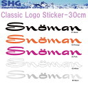【ゆうパケット対応】【SNOMAN】クラシックロゴステッカー 30cm SM10C【あす楽対応】