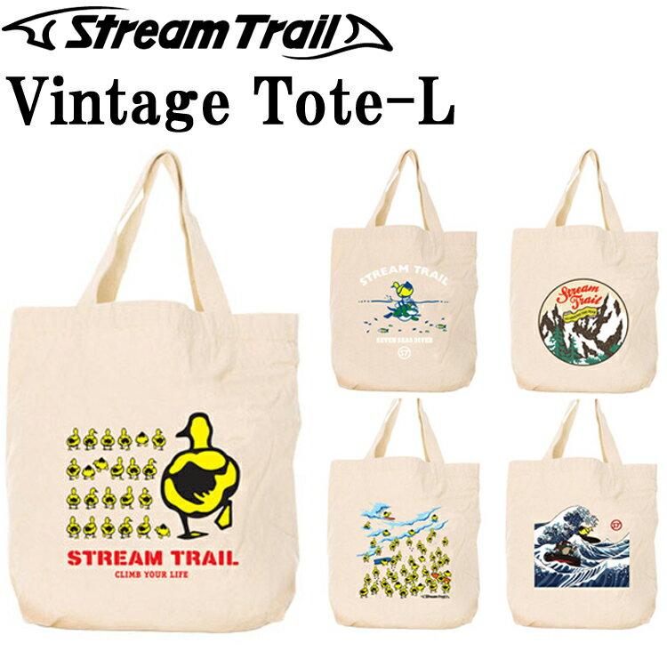 STREAMTRAIL ストリームトレイル ビンテージトートバッグ Lサイズ エコバッグ 手提げ 買い物袋 コットンバッグ あす楽対応