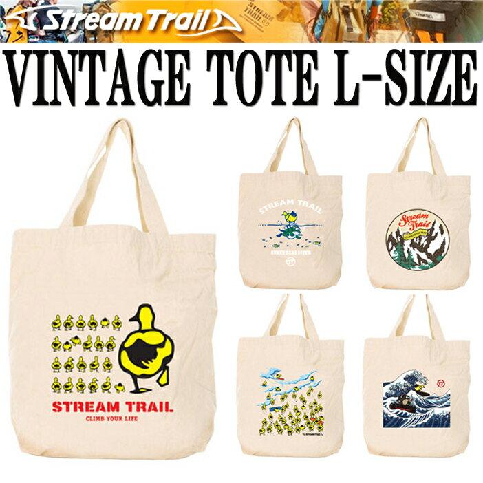 STREAMTRAIL ストリームトレイル ビンテージトートバッグ Lサイズ エコバッグ 手提げ 買い物袋 コットンバッグ【あす楽対応】