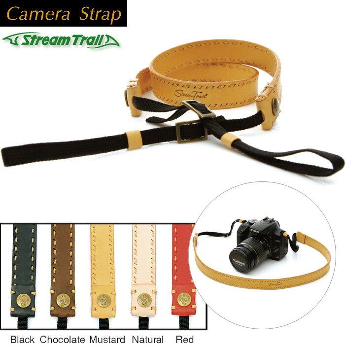 【Stream Trail ストリームトレイル】CAMERA STRAP一眼レフカメラ用カメラ用本革ストラップ【あす楽対応】