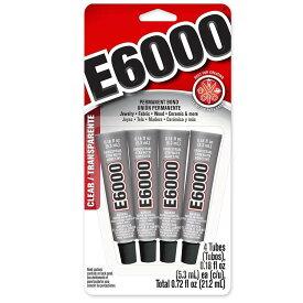 【クーポンプレゼント&ポイント2倍】E6000 0.18oz x4チューブtotal0.72oz ラインストーン スワロフスキー用接着剤 グルー 使い方 簡単