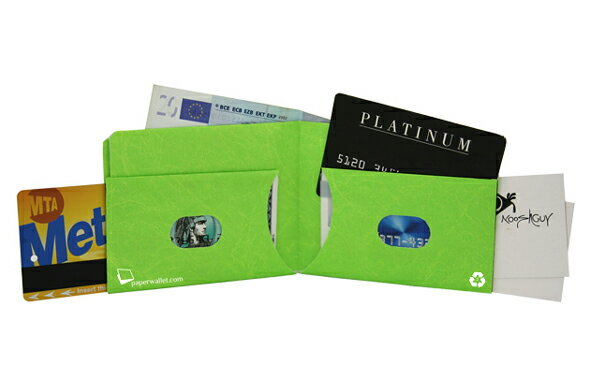 Paperwallet ペーパーウォレット Tyvek (タイベック) 製 財布 グリーン