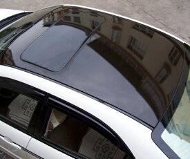 ルーフ ラッピングフィルム パノラマルーフ BMWベンツ ガラス風 ブラックルーフ グロスブラック エア抜き溝仕様 135×200cm