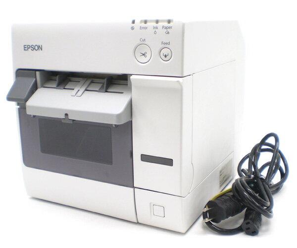 □☆EPSON/エプソン LAN対応/カラーラベルプリンタ TM-C3400 【動作OK】 【インクカートリッジ・ロール紙なし】【中古】