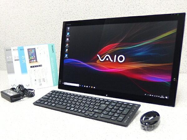 □■α SONY VAIO Tap 21 SVT2122A1J 21.5型(フルHD)タッチパネル液晶/Core i5 4200 1.60GHz/メモリ4GB/HDD500GB/Wi-Fi/Bluetooth/Windows10【中古品】