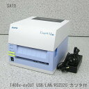 □■β SATO/サトー L'espritT408v-exCUT バーコードラベルプリンタ USB/LAN/RS232C/SD【中古】