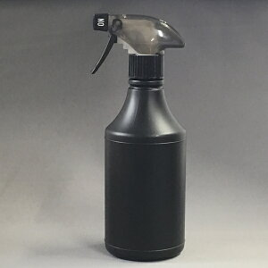 プラスチック容器 スプレーボトル PEガンスプレーボトル500ml黒色円柱形スプレー黒スケルトン