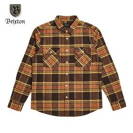 BRIXTON/ブリクストン BOWERY LS FLANNEL/フランネルシャツ・BROWN GOLD