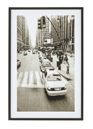 ウォールアートパネル201B交差点フォトパネル ファブリック アートフレーム 額縁 風景画 写真 ポスター 壁掛けインテリア