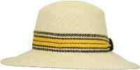 [MARZI]マルツィイタリア製中折れHAT帽子おしゃれストローハット麦わら帽子春夏新作リゾート帽子レディースメンズ