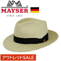 [MAYSER]メイサードイツ企画スロバキア製パナマHAT本パナマ中折れHAT帽子おしゃれストローハット春夏新作リゾート帽子レディースメンズ