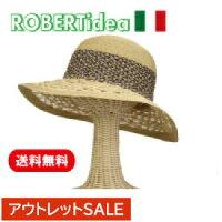 [ROBERTIDEA]ロベルトイデアイタリア製ブレードHAT帽子おしゃれストローハット麦わら帽子春夏新作リゾート帽子レディース