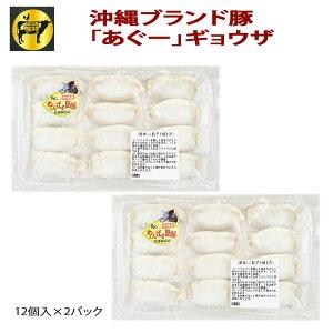フレッシュミートがなは 沖縄あぐー豚 豚肉 あぐー豚ギョウザ12個×2p 餃子