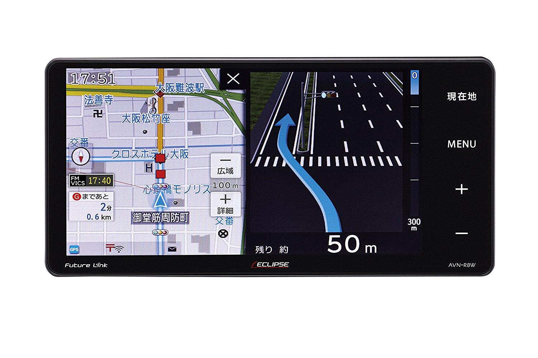 デンソーテン イクリプス(ECLIPSE) カーナビ AVN-R8W 地図無料更新 地デジ(ワンセグ/フルセグ)/VICS WIDE/SD/CD/DVD/USB/Bluetooth/Wi-Fi 7型ワイド AVN-R8W