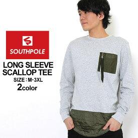 サウスポール ロンT ポケット ロング丈 メンズ|大きいサイズ USAモデル ブランド SOUTH POLE|長袖Tシャツ アメカジ ストリート XL XXL LL 2L 3L (clearance)