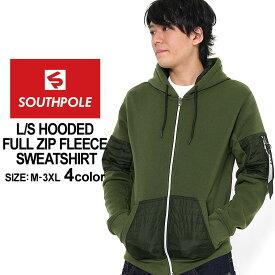 [10%OFFクーポン配布] サウスポール パーカー ジップアップ メンズ 裏起毛|大きいサイズ USAモデル ブランド SOUTH POLE|スウェット XL XXL LL 2L 3L (clearance)