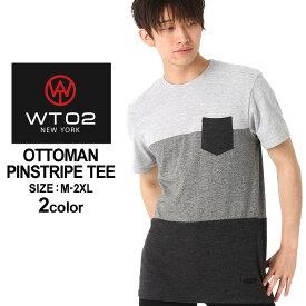 WT02 Tシャツ 半袖 ポケット 無地 メンズ 18191-1463|大きいサイズ USAモデル ブランド ダブルティー02|ブロックカラー 半袖Tシャツ ストリート (clearance_1004)