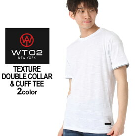 WT02 Tシャツ 半袖 ポケット 無地 メンズ 18191-1465|大きいサイズ USAモデル ブランド ダブルティー02|レイヤード 半袖Tシャツ ストリート (clearance_1004)