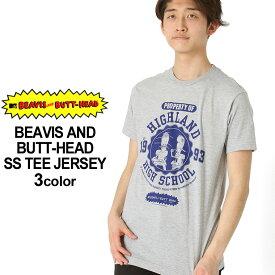 ビーバス&バットヘッド Tシャツ 半袖 メンズ|大きいサイズ USAモデル BEAVIS AND BUTT-HEAD ビーバス・アンド・バットヘッド|半袖Tシャツ プリントT アメコミ MTV