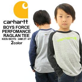 [キッズ] カーハート Tシャツ 長袖 ラグラン USAモデル ボーイズ│ブランド Carhartt|ロンT 長袖Tシャツ ラグランTシャツ|子供 子供服 男の子 女の子 アメカジ おしゃれ 大きいサイズ 小さいサイズ 【W】
