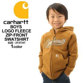 [キッズ] カーハート パーカー ジップアップ 裏起毛 ボーイズ CP8447 USAモデル|ブランド Carhartt|子供 子供服 男の子 女の子 アメカジ