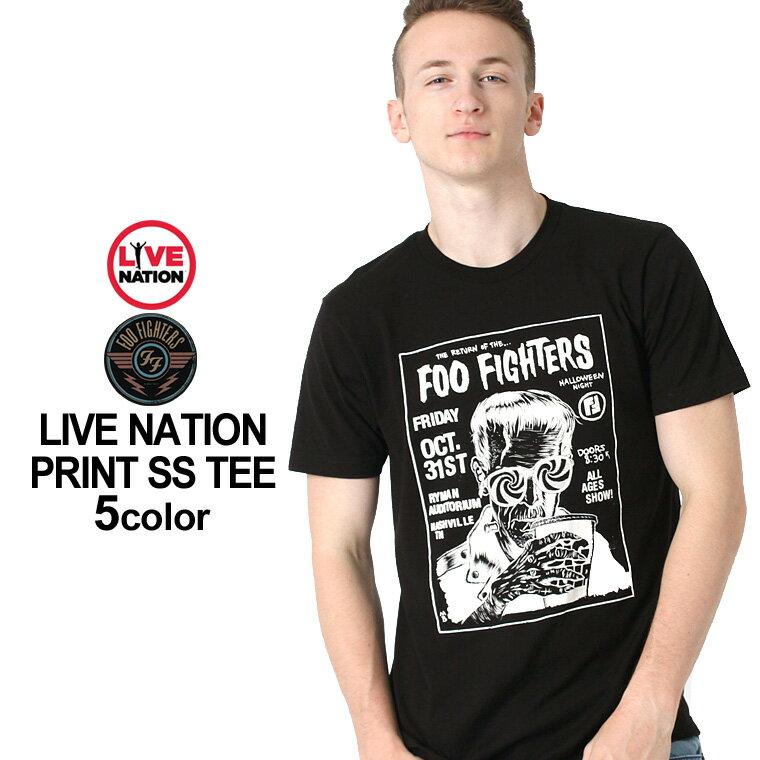 【最大2,000円OFFクーポン配布】 LIVE NATION (ライブネーション) tシャツ メンズ 半袖 プリント バンド tシャツ foo fighters (フー・ファイターズ) [ライブネイション tシャツ メンズ 半袖 プリント 半袖tシャツ tシャツ ロックtシャツ バンドtシャツ] 父の日